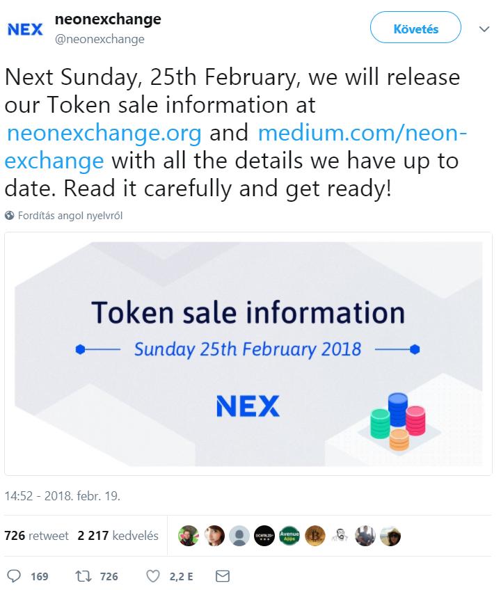 0222 nex exchange bejelentés 2
